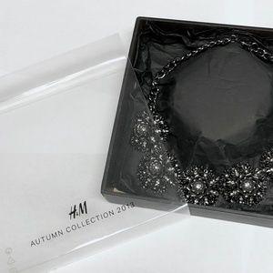 H&M Metal Flower Bib Statement Necklace